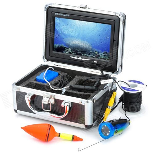 7 color tft underwater fish finder video camera monitor for Best underwater fishing camera