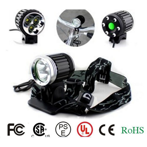 CREE XML-T6 30w 2500lm led aluminum alloy headlight led miner lamp Bicycel light